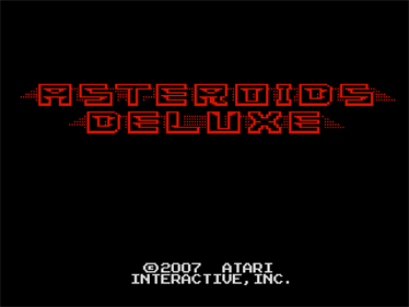 Asteroids Deluxe - Screenshot - Game Title