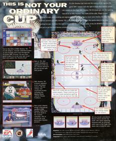 NHL Hockey 95 - Box - Back