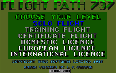 Flight Path 737 - Screenshot - Game Select