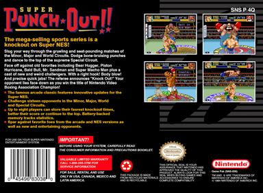 Super Punch-Out!! - Box - Back