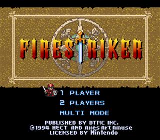 Firestriker - Screenshot - Game Title