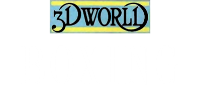 3D World Boxing - Clear Logo