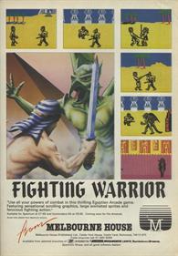 Fighting Warrior - Advertisement Flyer - Front