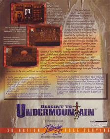 Descent to Undermountain - Box - Back
