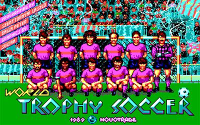 Rick Davis's World Trophy Soccer - Screenshot - Game Title