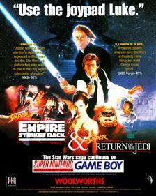 Super Star Wars: Return of the Jedi - Advertisement Flyer - Front