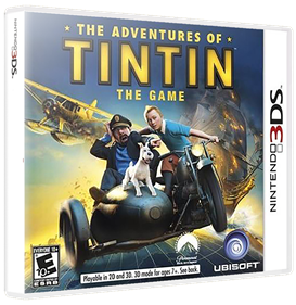 The Adventures of Tintin: The Game - Box - 3D