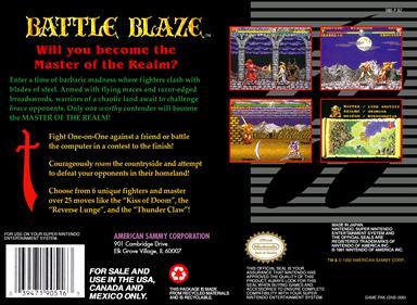 Battle Blaze - Box - Back
