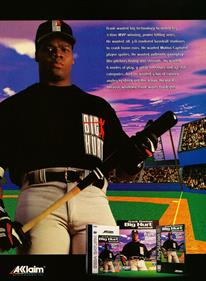 Frank Thomas Big Hurt Baseball - Advertisement Flyer - Front
