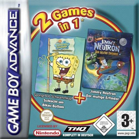 2 Games in 1: SpongeBob SquarePants: Battle for Bikini Bottom + Jimmy Neutron Boy Genius