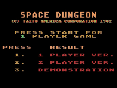 Space Dungeon - Screenshot - Game Title