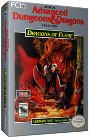 Advanced Dungeons & Dragons: Dragons of Flame - Box - 3D