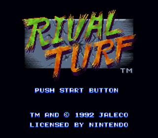 Rival Turf! - Screenshot - Game Title