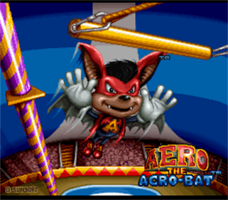 Aero the Acro-Bat - Screenshot - Game Title