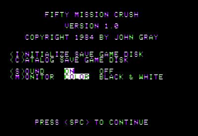 50 Mission Crush - Screenshot - Game Title