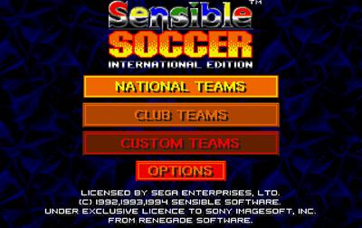 International Sensible Soccer: World Champions - Screenshot - Game Title