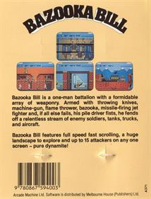Bazooka Bill - Box - Back