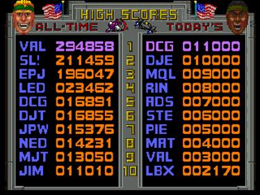 Total Carnage - Screenshot - High Scores