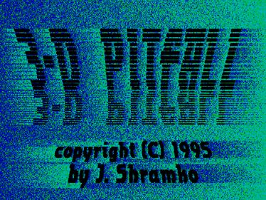 3-D Pitfall - Screenshot - Game Title