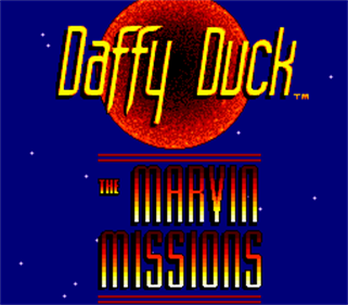 Daffy Duck: The Marvin Missions - Screenshot - Game Title