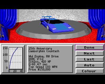 4D Sports Driving - Screenshot - Game Select