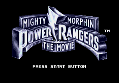 Mighty Morphin Power Rangers: The Movie - Screenshot - Game Title