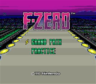 F-Zero - Screenshot - Game Title