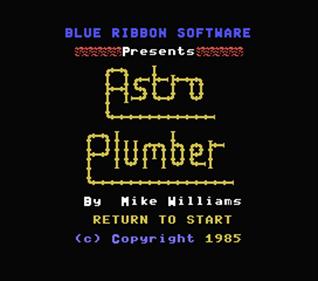Astro Plumber - Screenshot - Game Title