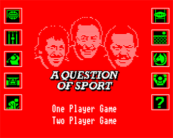 A Question of Sport - Screenshot - Game Select