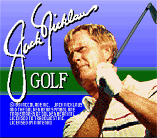Jack Nicklaus Golf - Screenshot - Game Title