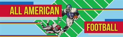 All American Football - Arcade - Marquee