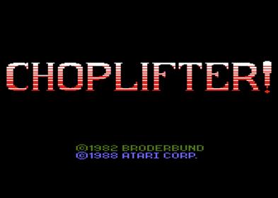 Choplifter - Screenshot - Game Title
