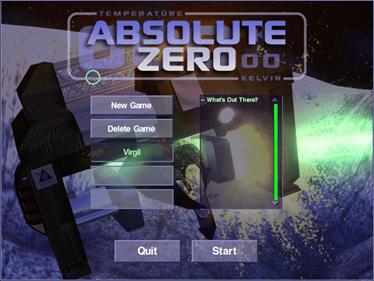 Absolute Zero - Screenshot - Game Select