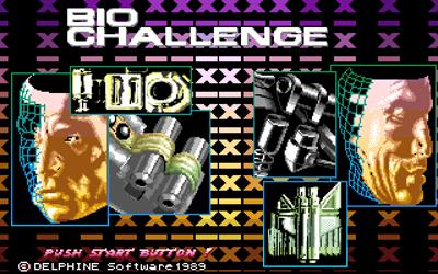 Bio Challenge - Screenshot - Game Title
