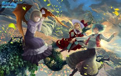 Touhou 04: Lotus Land Story - Fanart - Background