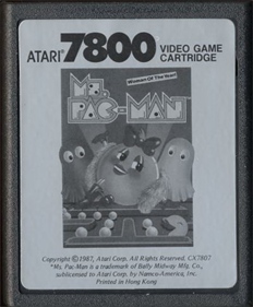 Ms. Pac-Man - Cart - Front