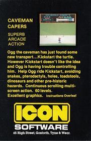 Caveman Capers - Box - Back
