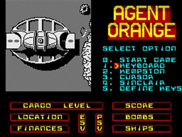 Agent Orange - Screenshot - Game Select