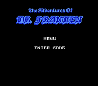 The Adventures of Dr. Franken - Screenshot - Game Title