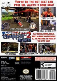 American Chopper 2: Full Throttle - Box - Back