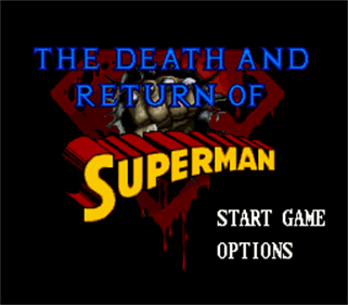 The Death and Return of Superman - Screenshot - Game Title