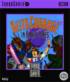 Keith Courage in Alpha Zones - Box - Front - Reconstructed