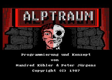 Alptraum - Screenshot - Game Title