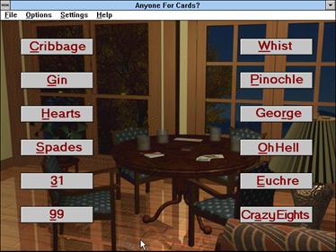 Anyone for Cards? - Screenshot - Game Select
