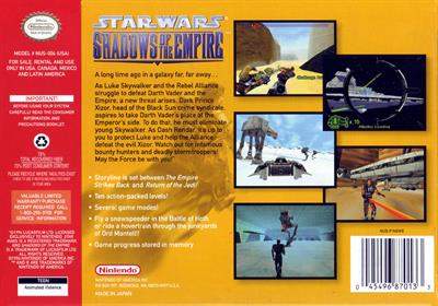 Star Wars: Shadows of the Empire - Box - Back