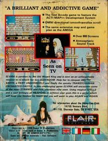 Elvira: The Arcade Game - Box - Back