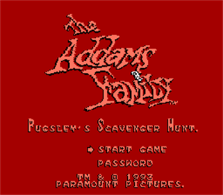 The Addams Family: Pugsley's Scavenger Hunt - Screenshot - Game Title