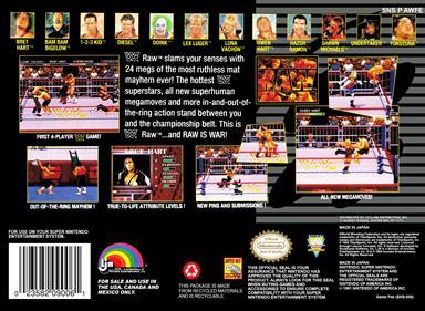 WWF Raw - Box - Back