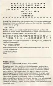 Missile Base - Box - Back
