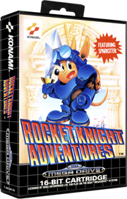 Rocket Knight Adventures - Box - 3D